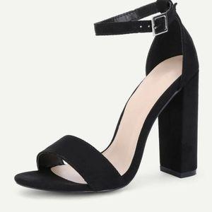 Shein strap block heels